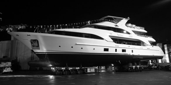 Superyacht Dyna Launched by Benetti (images courtesy of Benetti)